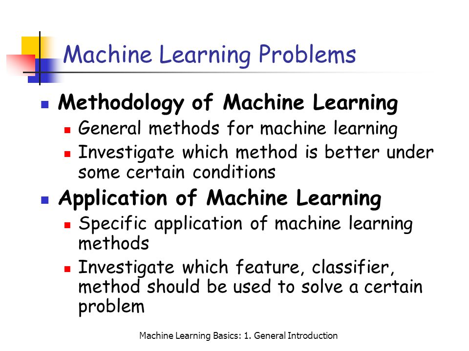 Machine Learning Problems