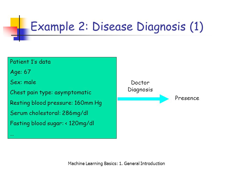 Example 2: Disease Diagnosis (1)