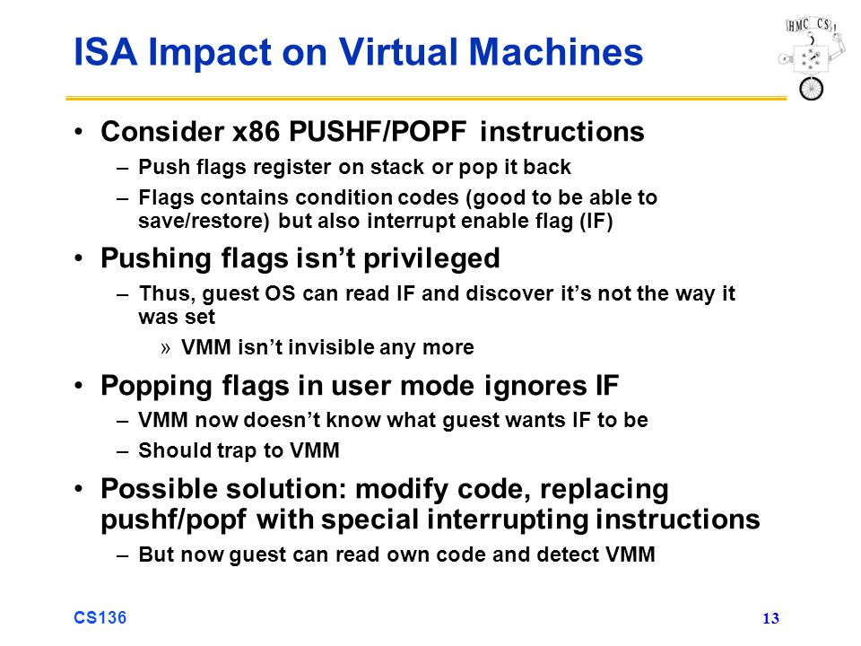 ISA Impact on Virtual Machines