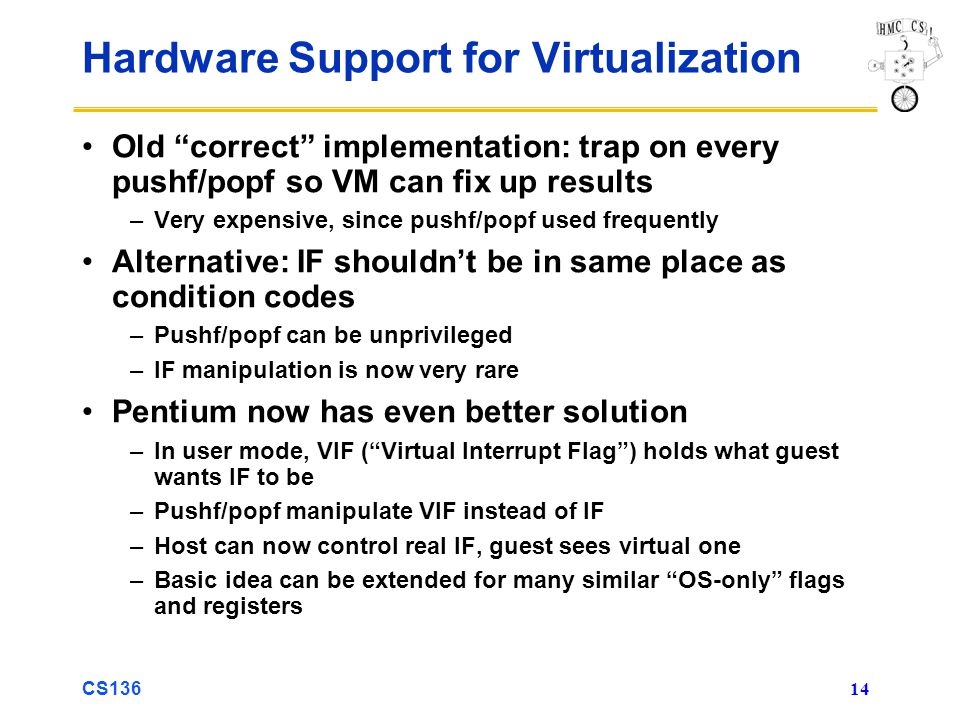 Hardware Support for Virtualization