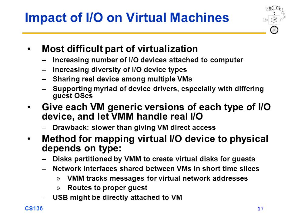 Impact of I/O on Virtual Machines