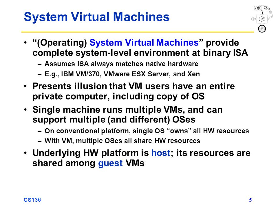 System Virtual Machines