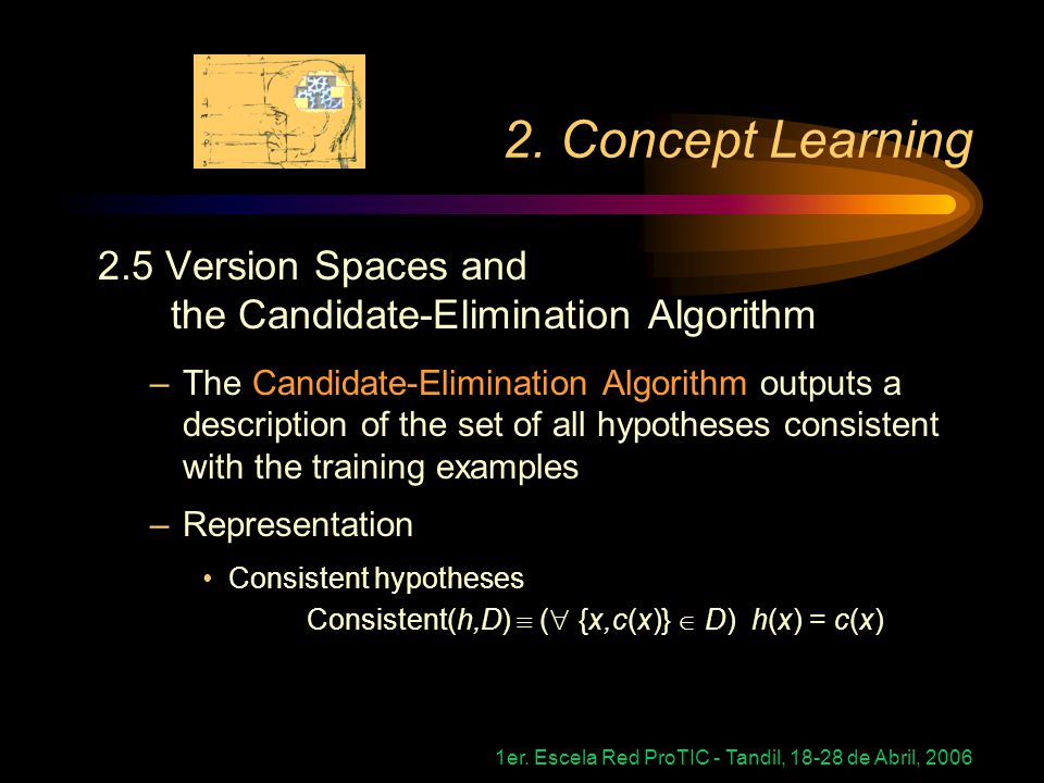 2. Concept Learning 2.5 Version Spaces and