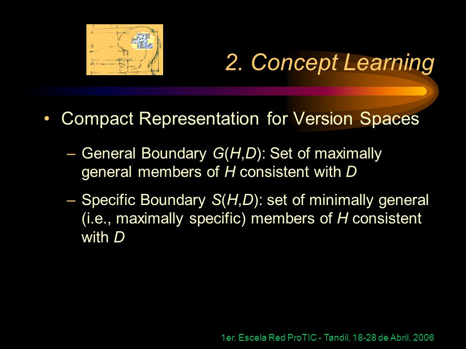 2. Concept Learning Compact Representation for Version Spaces