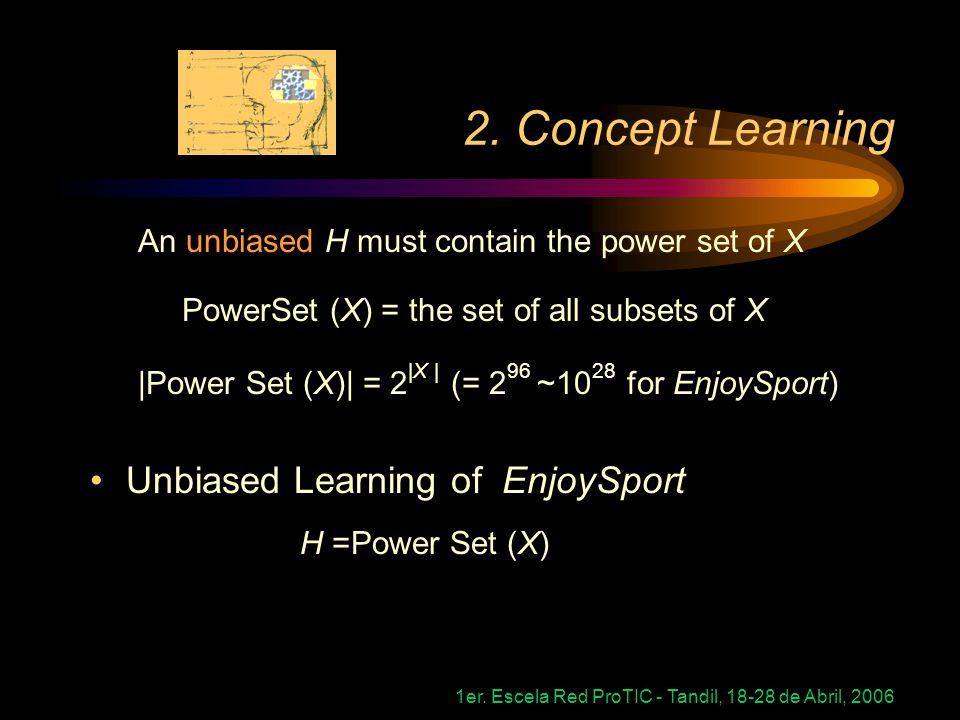 2. Concept Learning Unbiased Learning of EnjoySport