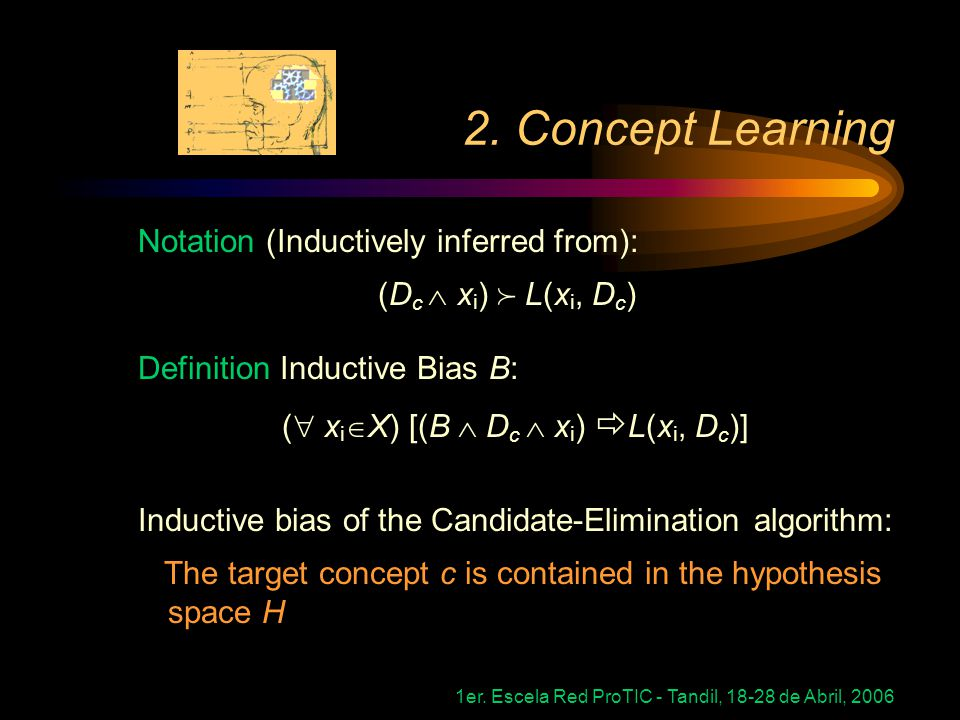 2. Concept Learning Notation (Inductively inferred from):
