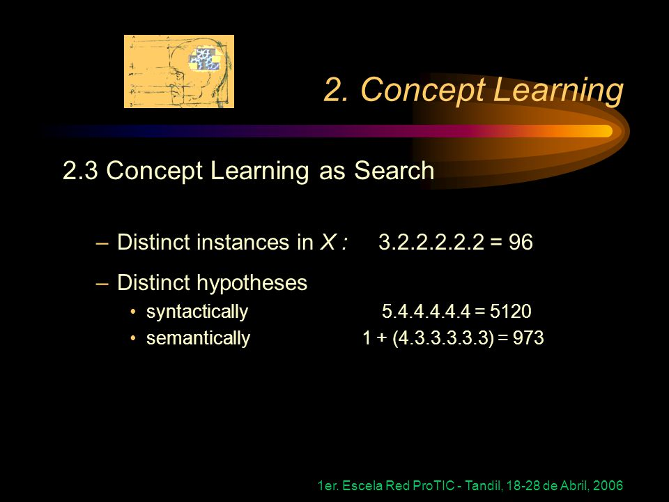 2. Concept Learning 2.3 Concept Learning as Search