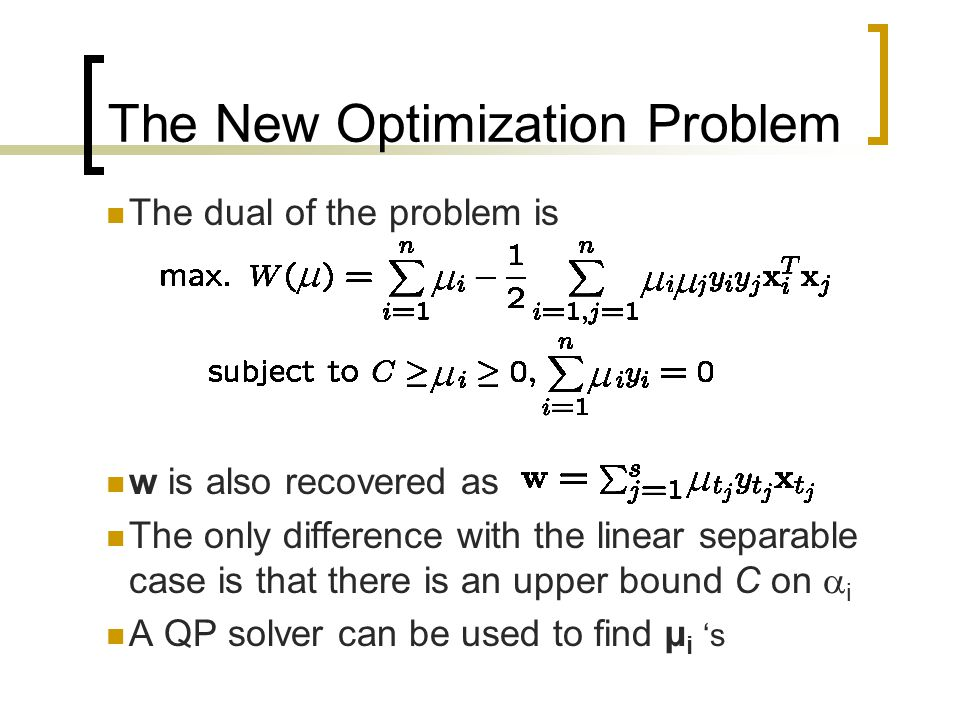 The New Optimization Problem