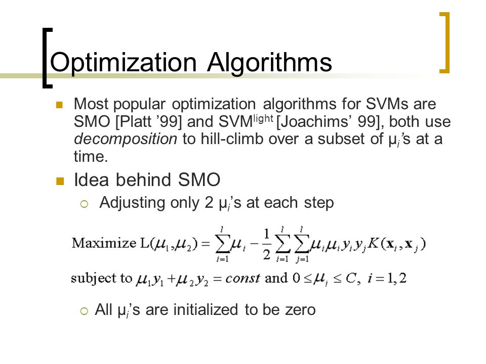 Optimization Algorithms
