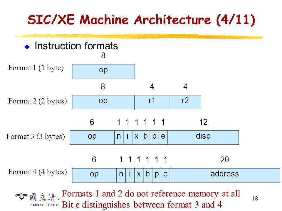 SIC/XE Machine Architecture (5/11)