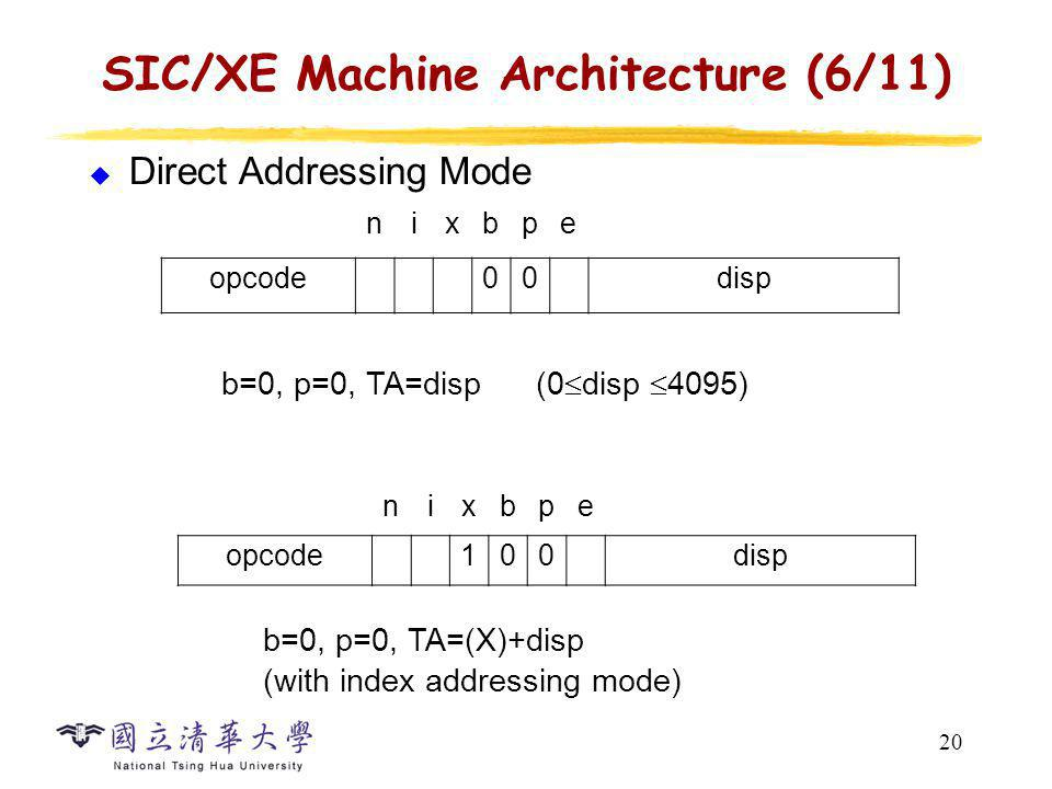 SIC/XE Machine Architecture (7/11)