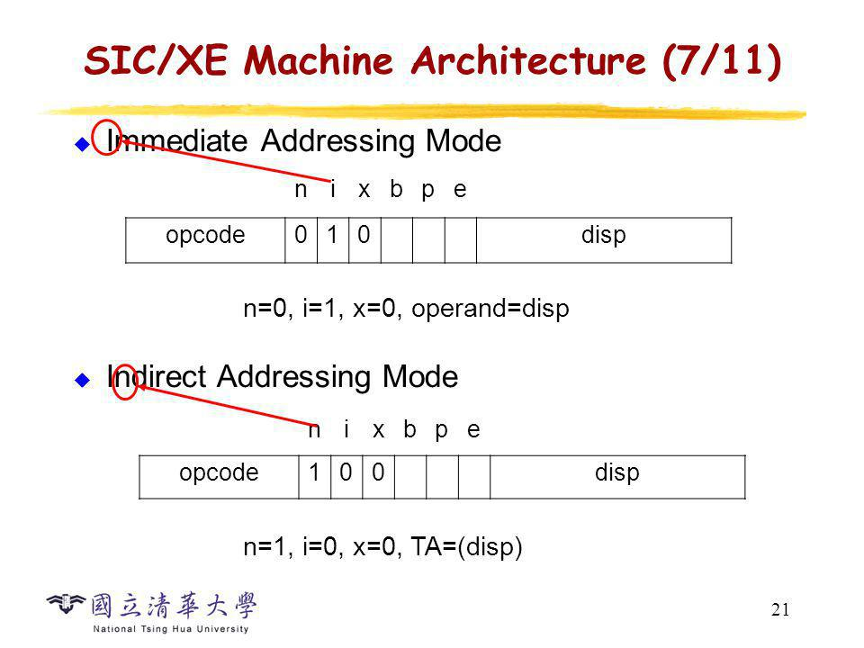 SIC/XE Machine Architecture (8/11)