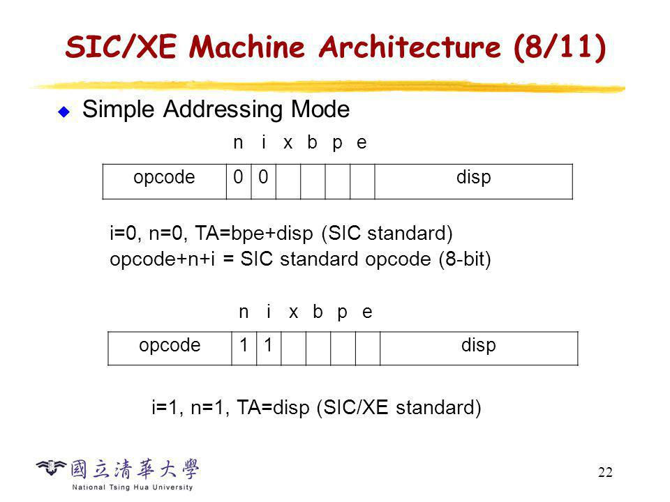 SIC/XE Machine Architecture (9/11)