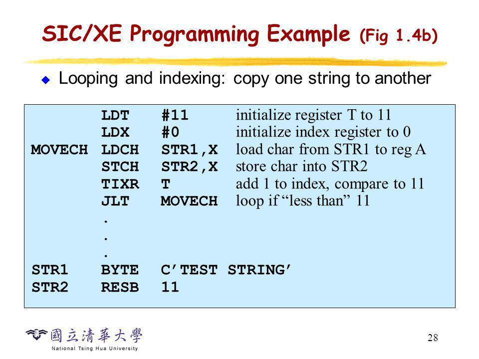 SIC/XE Programming Example (Fig 1.5b)