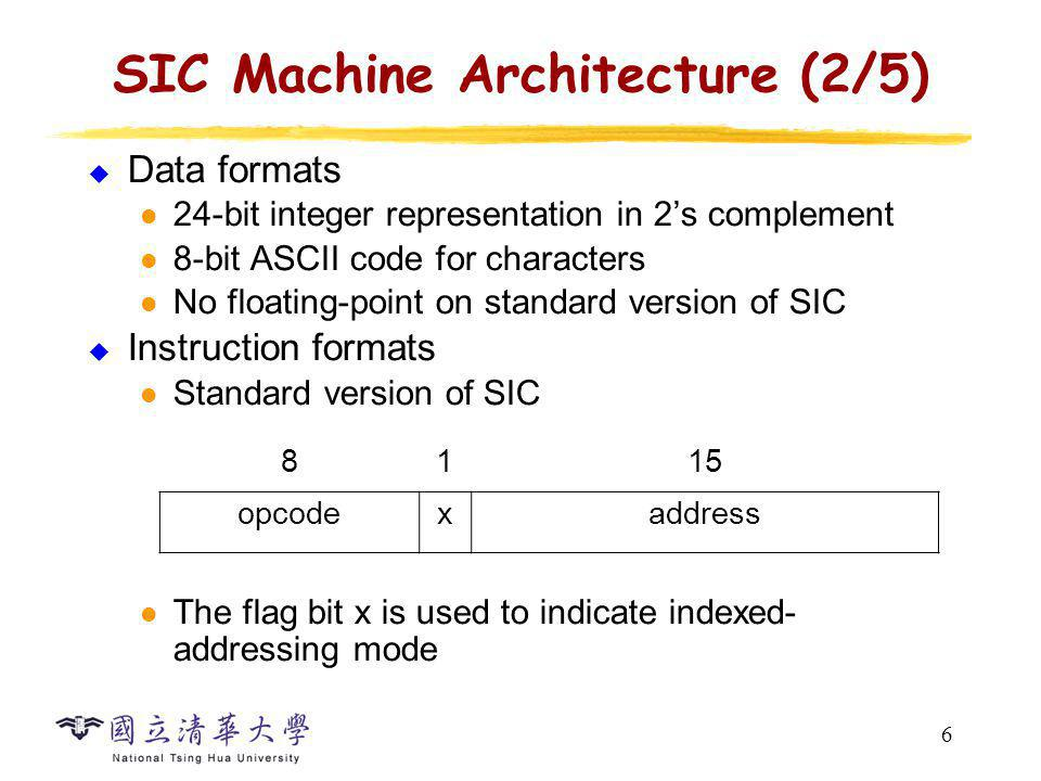 SIC Machine Architecture (3/5)