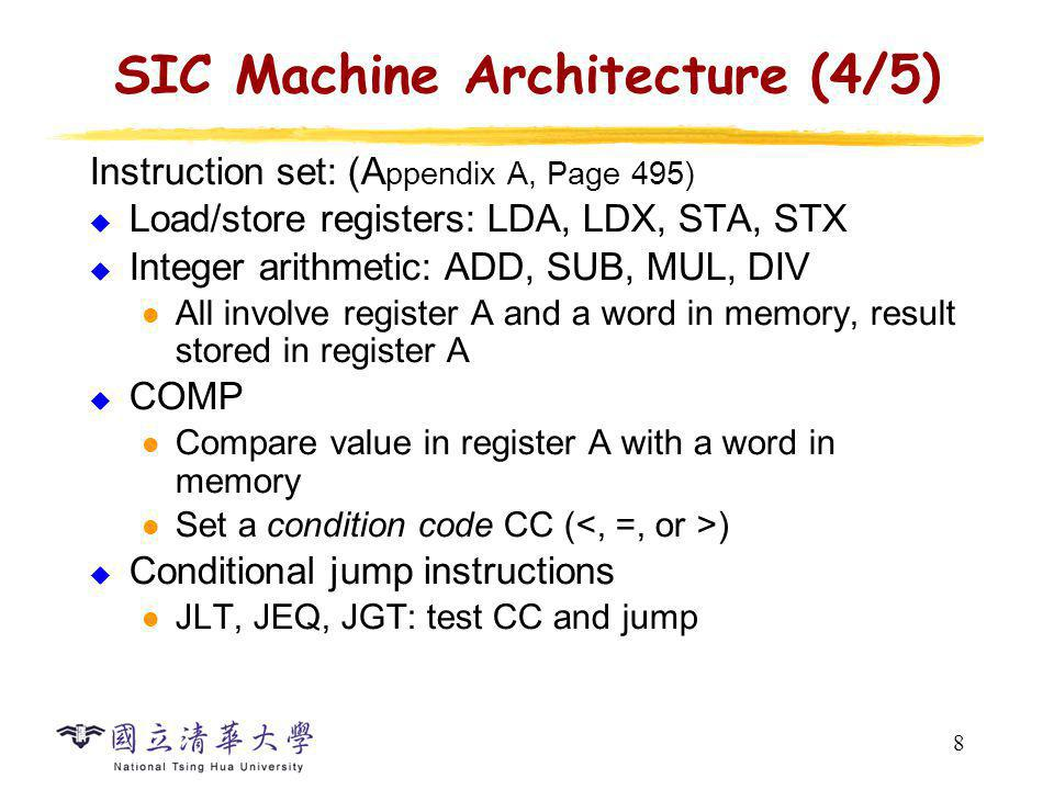 SIC Machine Architecture (5/5)