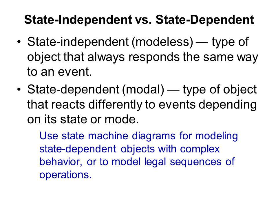 State-Independent vs. State-Dependent