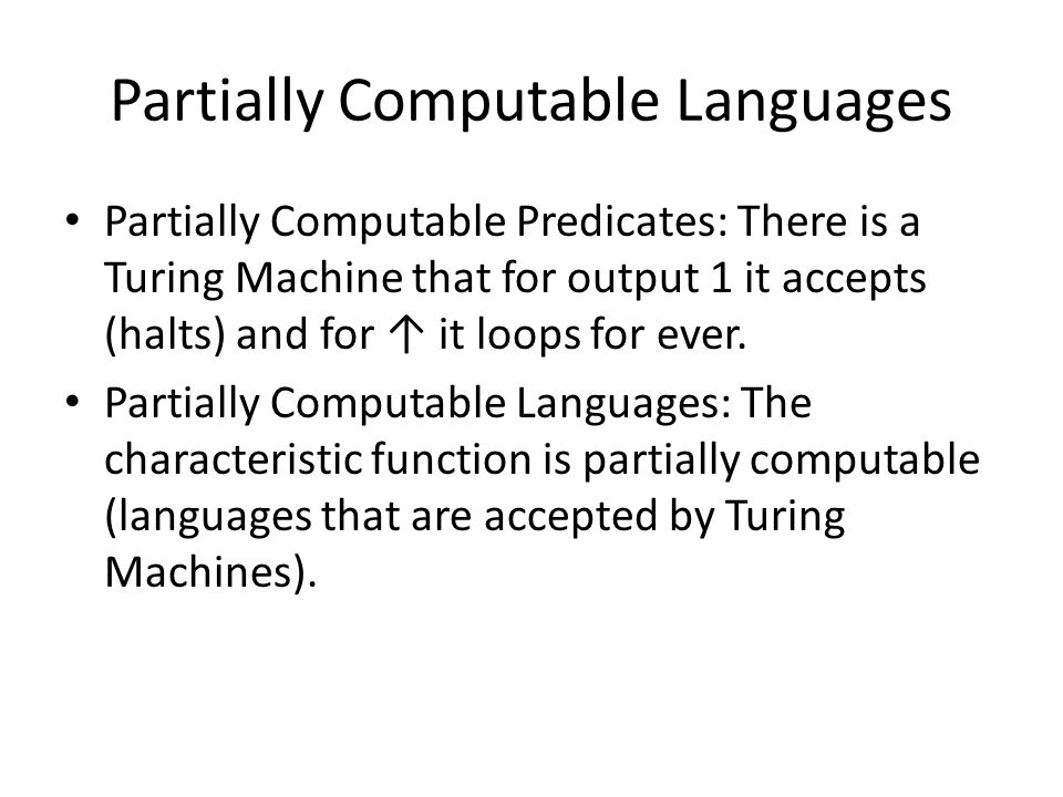 Partially Computable Languages