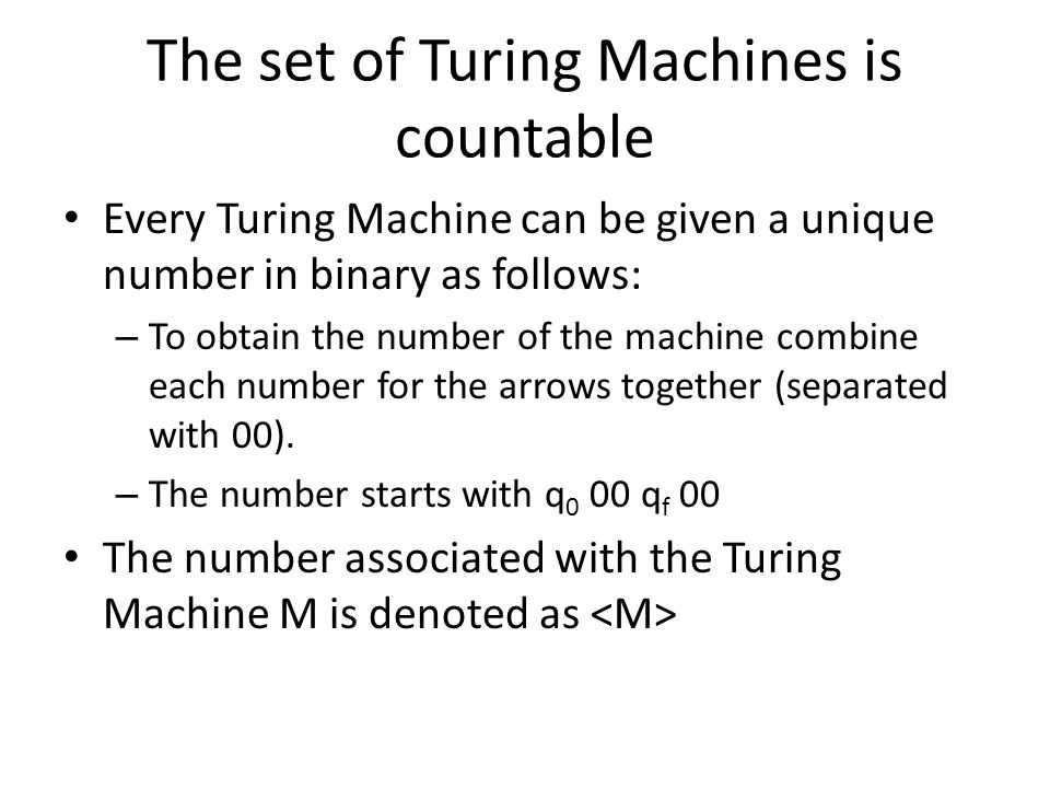 The set of Turing Machines is countable