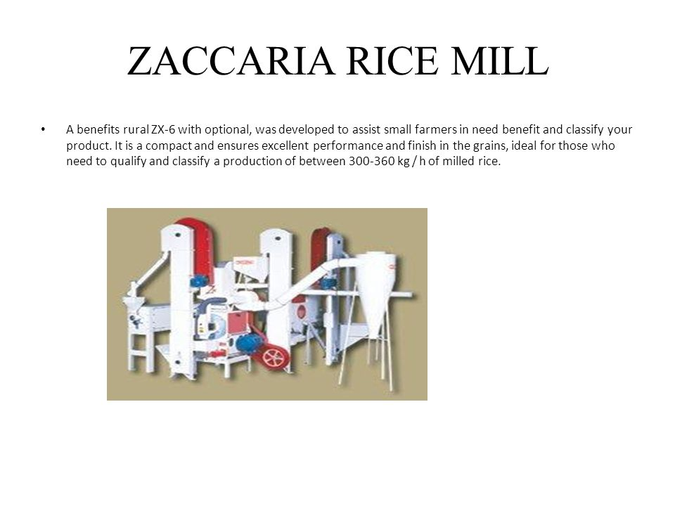 ZACCARIA RICE MILL