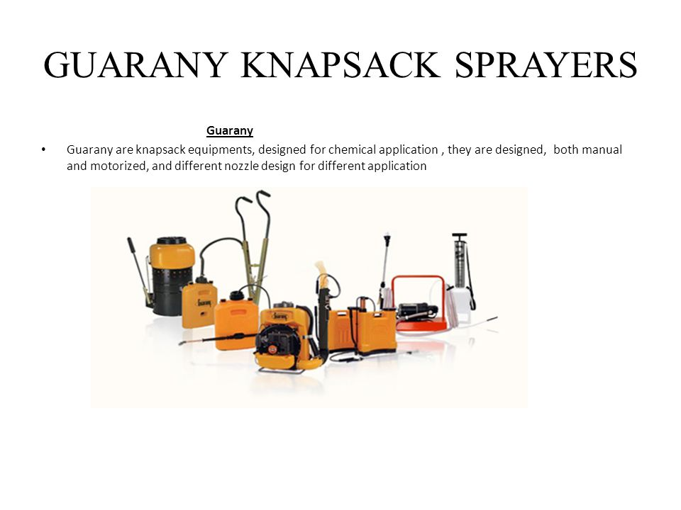 GUARANY KNAPSACK SPRAYERS