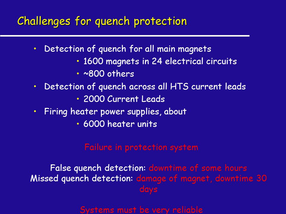Challenges for quench protection