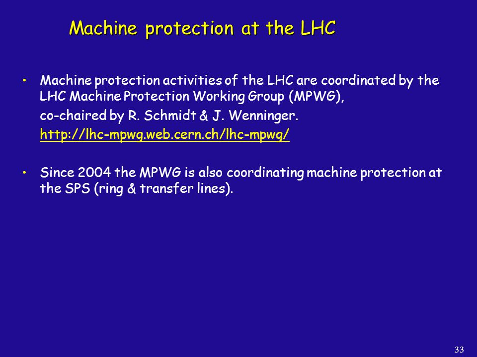 Machine protection at the LHC