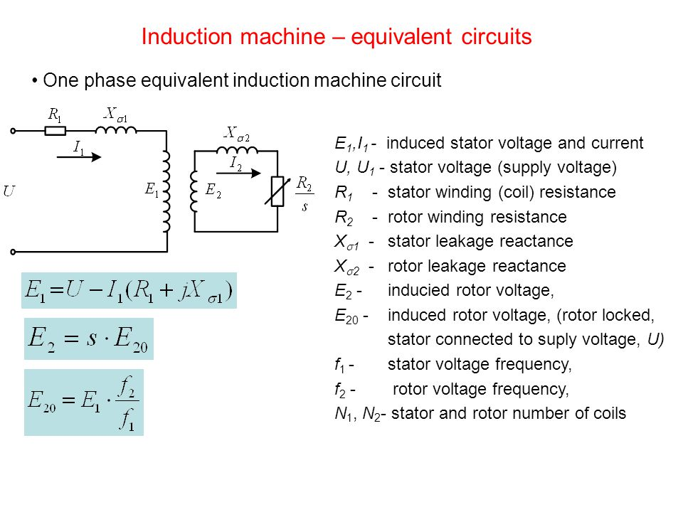 Induction machine – equivalent circuits