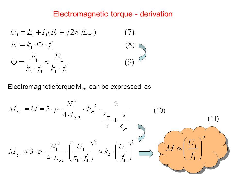 Electromagnetic torque - derivation
