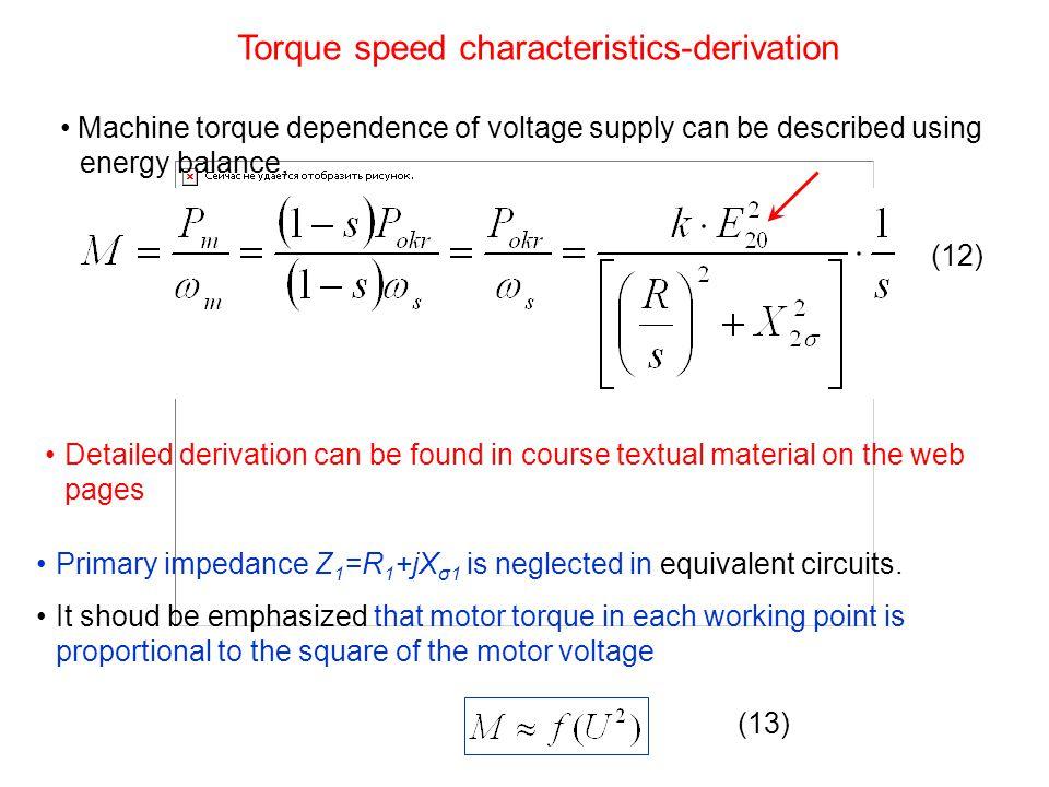 Torque speed characteristics-derivation