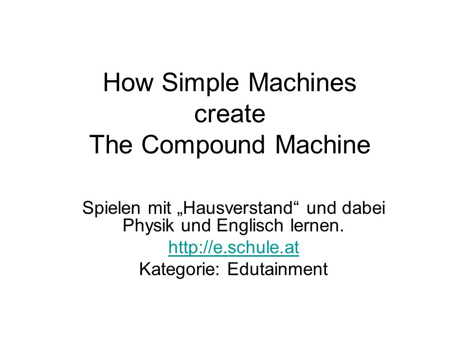 how to create a machine