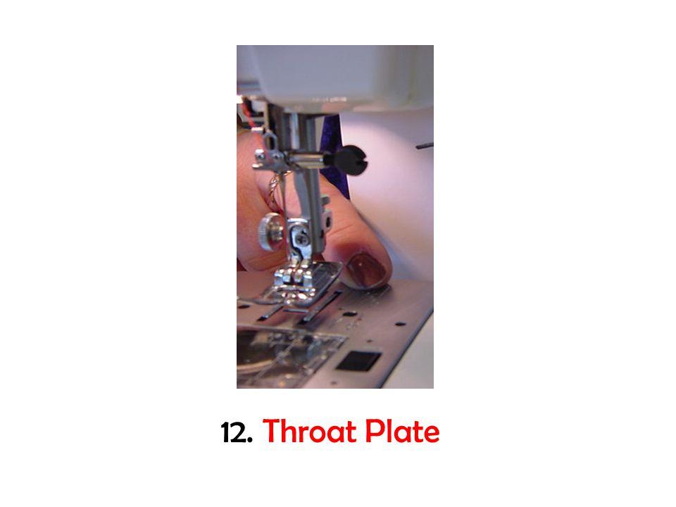 12. Throat Plate