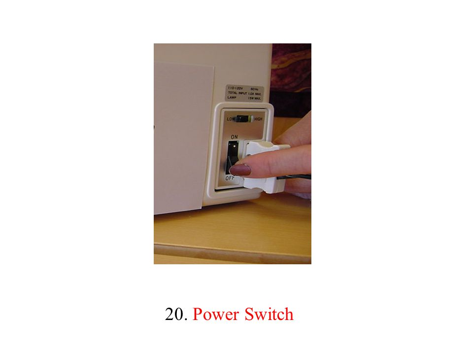 20. Power Switch