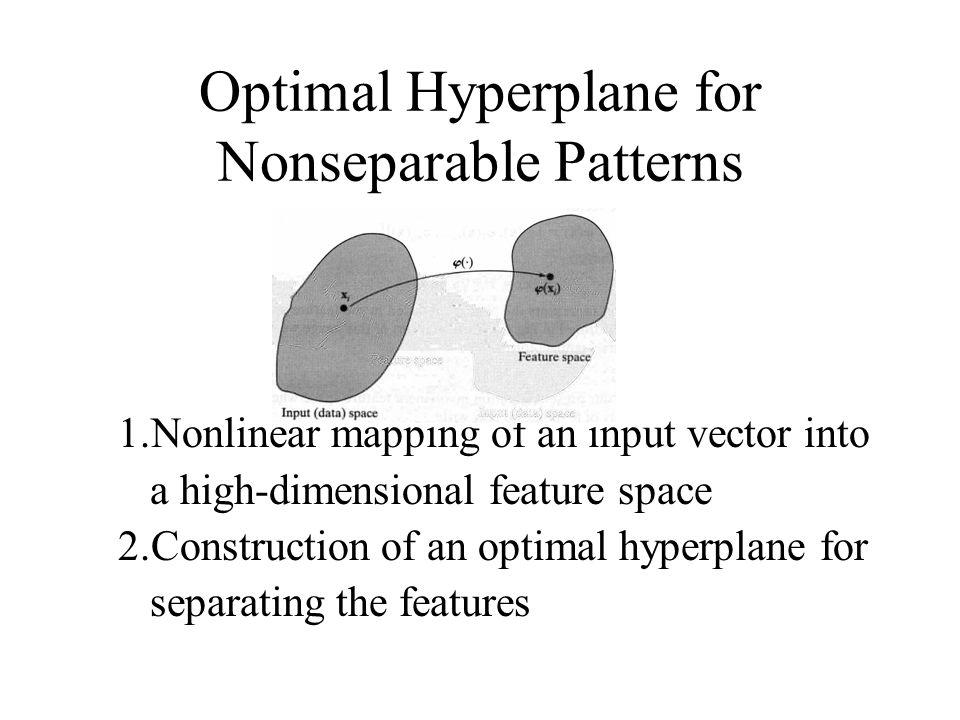 Optimal Hyperplane for Nonseparable Patterns