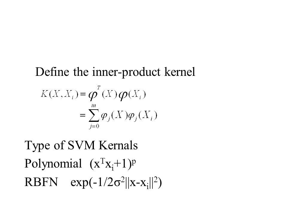 Define the inner-product kernel