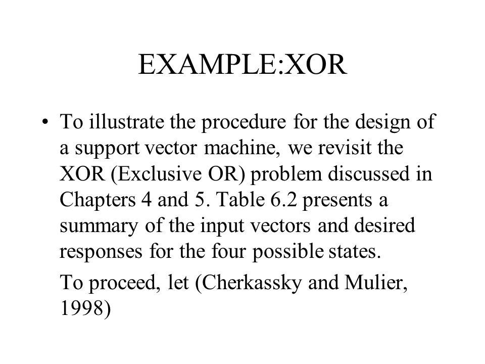 EXAMPLE:XOR