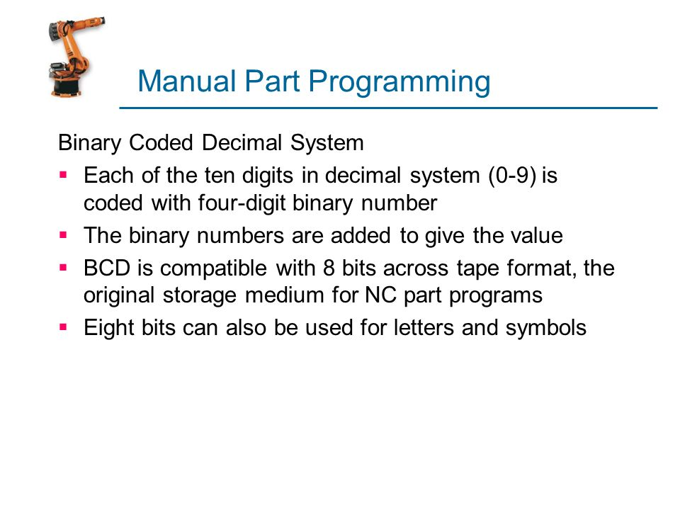 Manual Part Programming