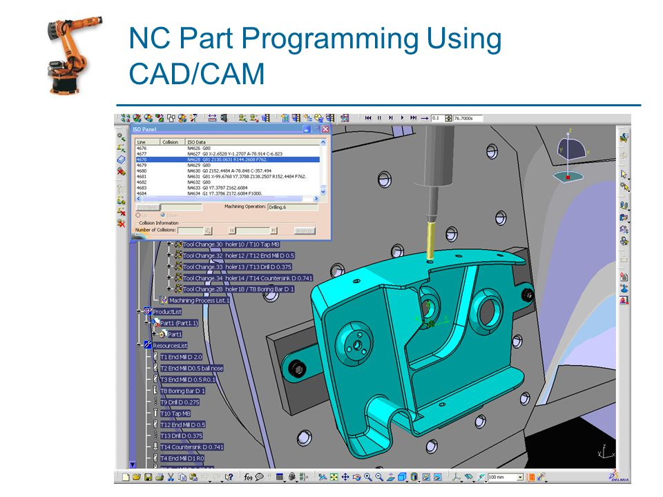 NC Part Programming Using CAD/CAM