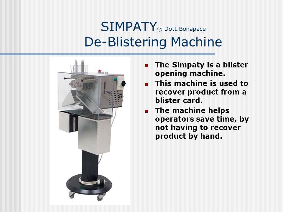 SIMPATY® Dott.Bonapace De-Blistering Machine