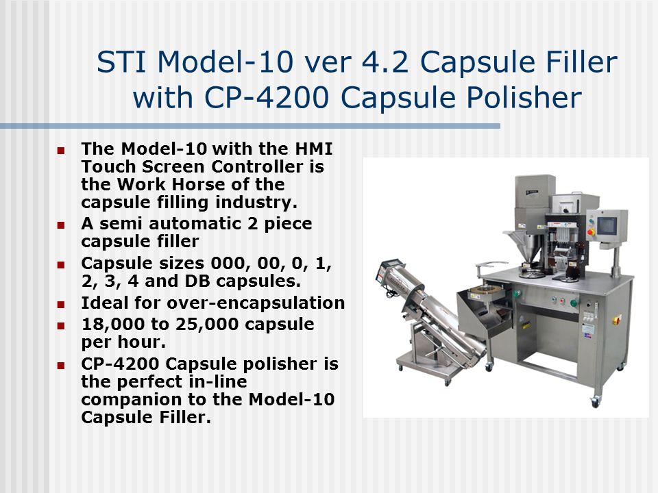 STI Model-10 ver 4.2 Capsule Filler with CP-4200 Capsule Polisher