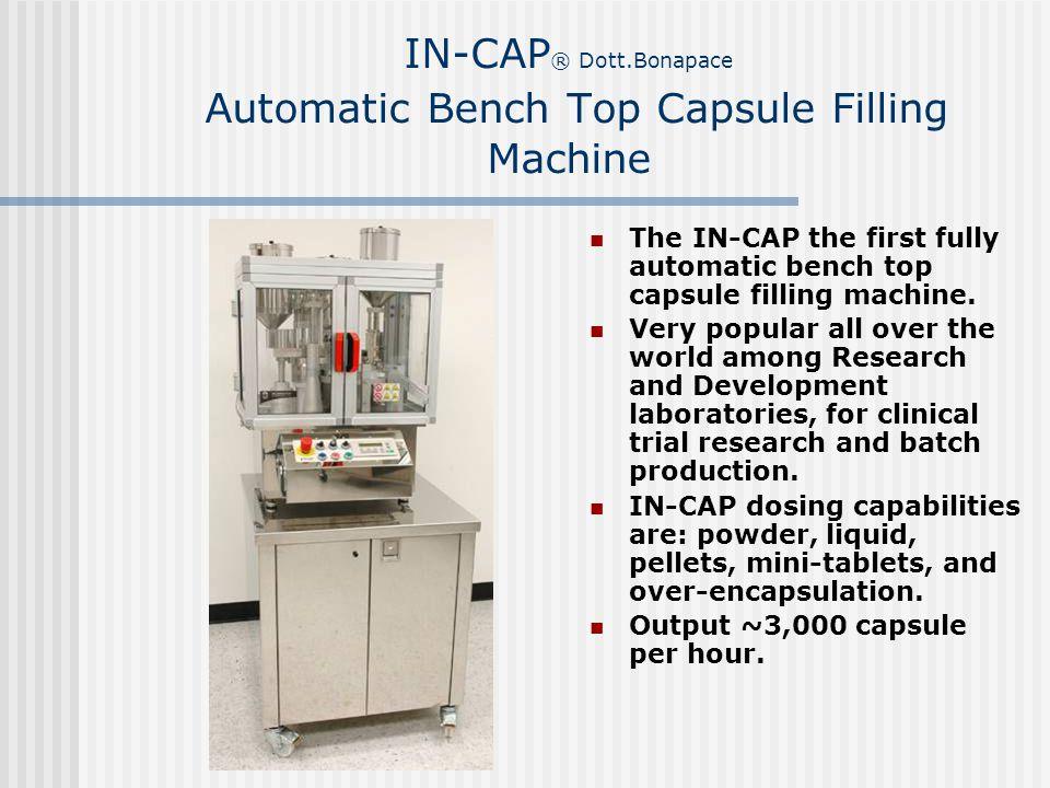IN-CAP® Dott.Bonapace Automatic Bench Top Capsule Filling Machine