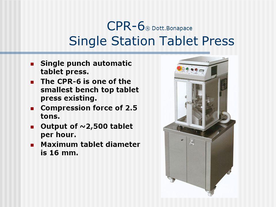 CPR-6® Dott.Bonapace Single Station Tablet Press