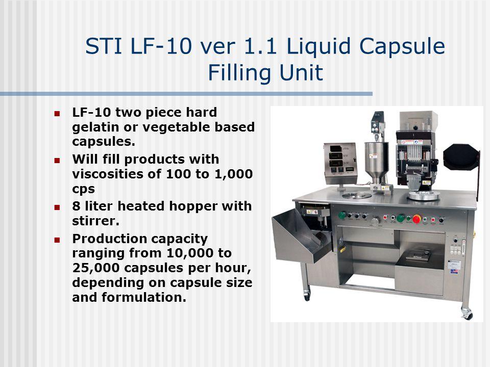 STI LF-10 ver 1.1 Liquid Capsule Filling Unit