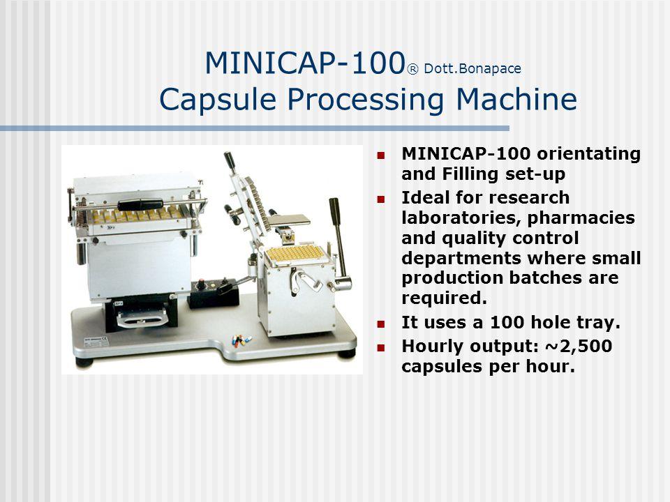 MINICAP-100® Dott.Bonapace Capsule Processing Machine