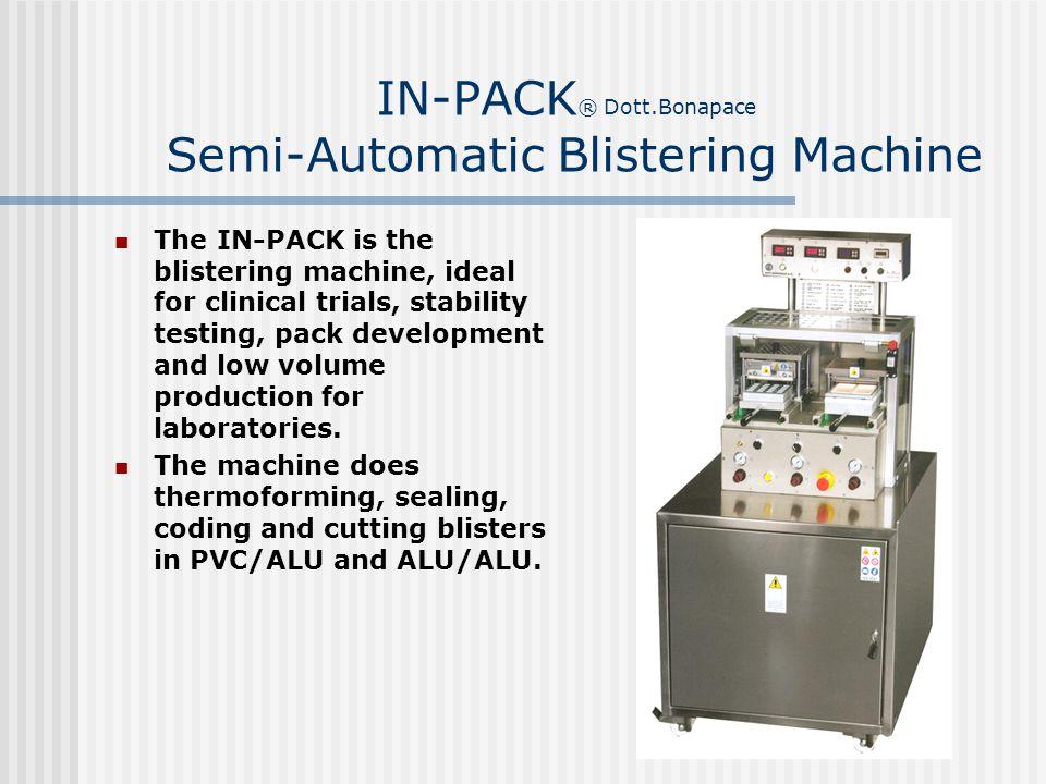 IN-PACK® Dott.Bonapace Semi-Automatic Blistering Machine