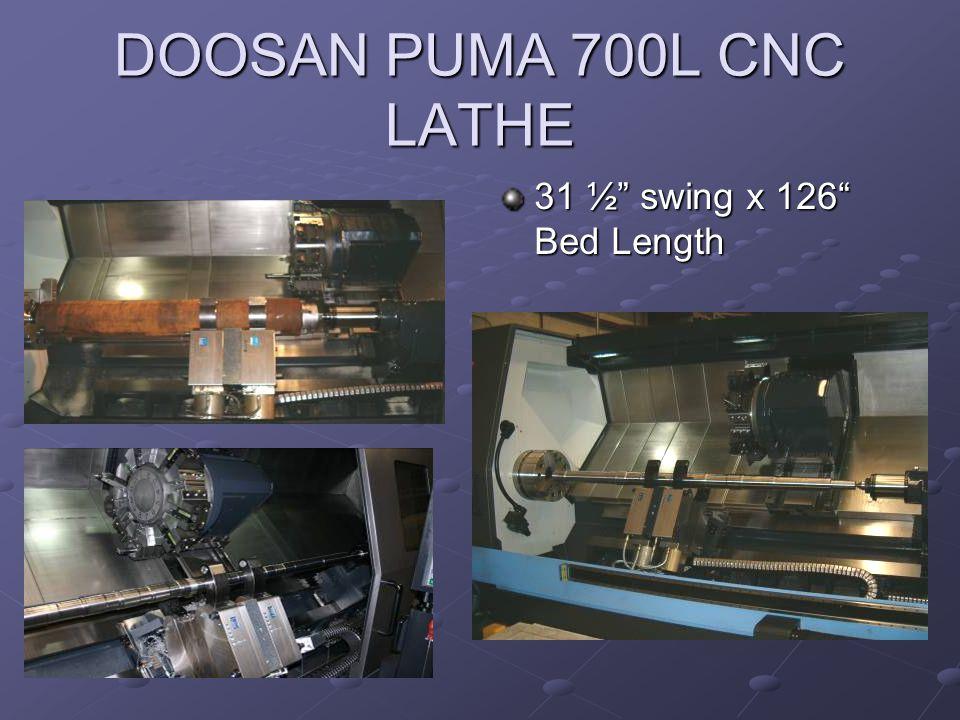 DOOSAN PUMA 700L CNC LATHE 31 ½ swing x 126 Bed Length
