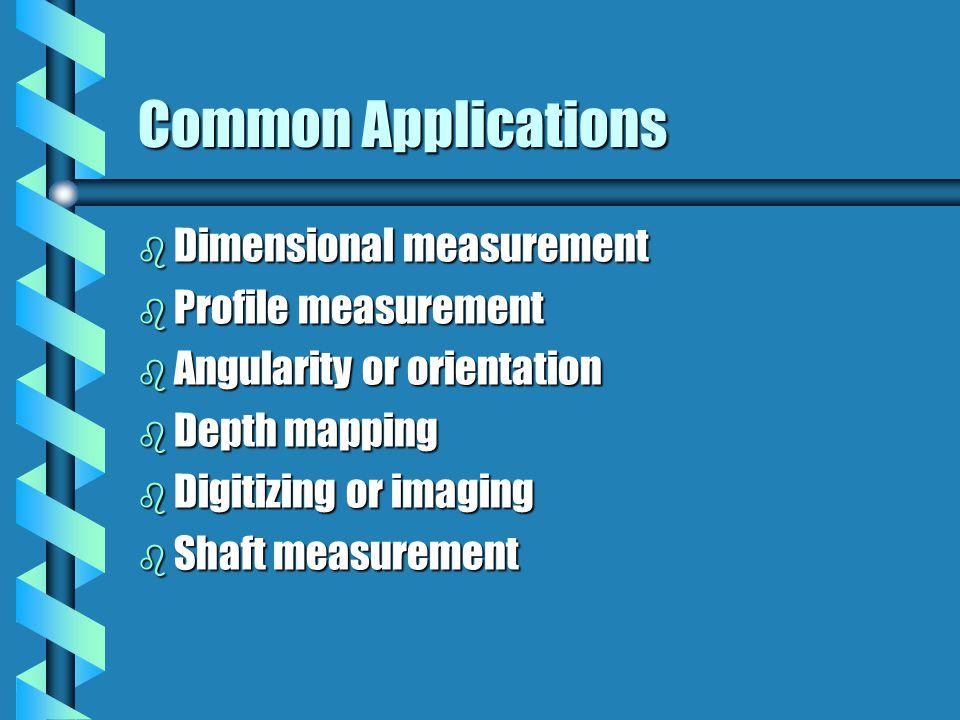 Common Applications Dimensional measurement Profile measurement