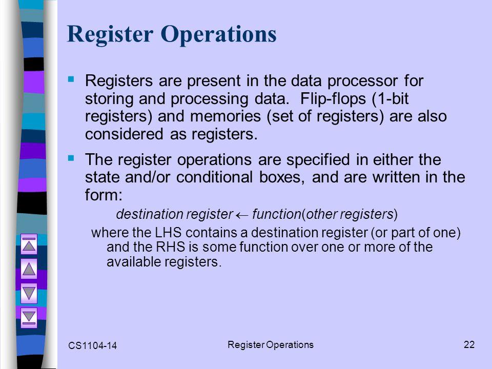Register Operations