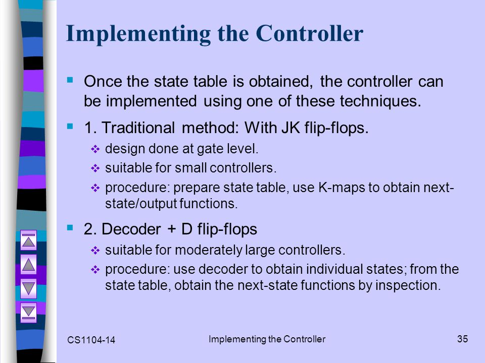 Implementing the Controller