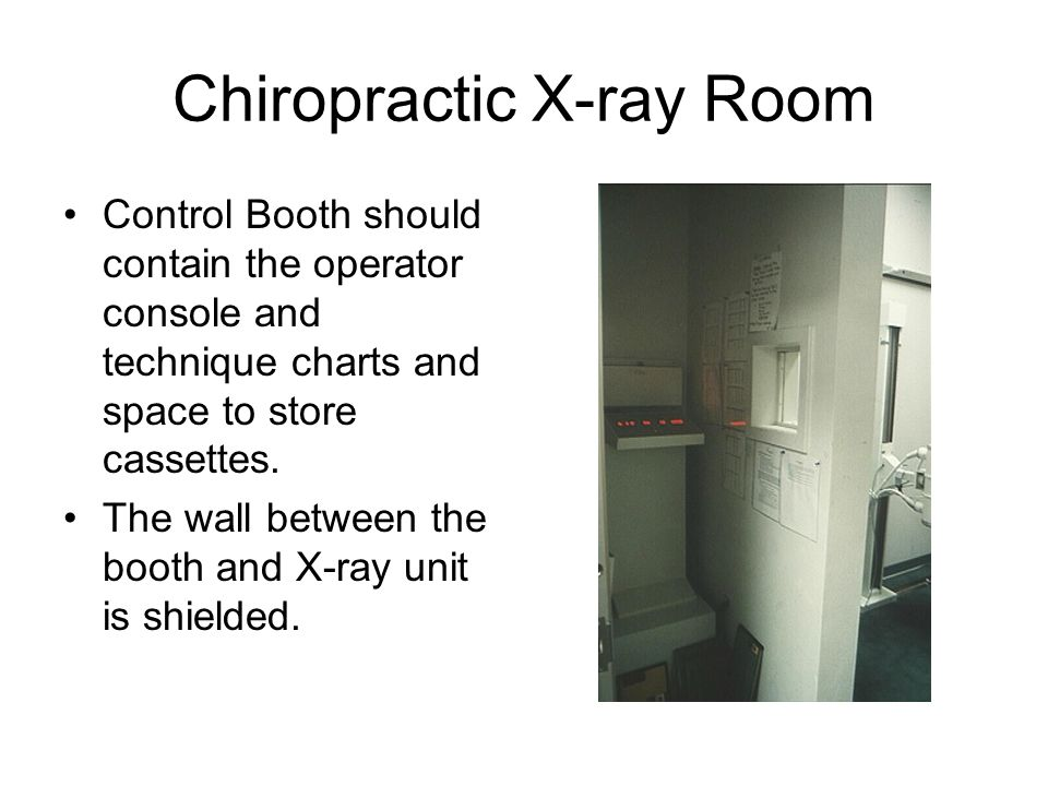 Chiropractic X-ray Room